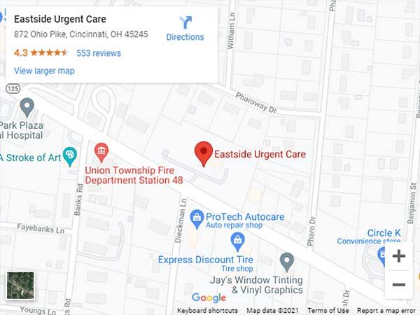 Get Directions to Eastside Urgent Care in Cincinnati, OH